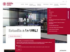 Universitat Ramon Llull's Website Screenshot