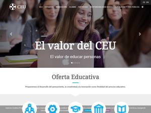 Universidad CEU San Pablo's Website Screenshot
