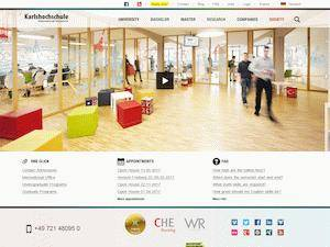 Karlshochschule International University Screenshot