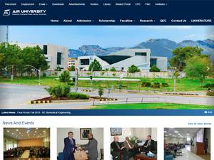 Air University's Website Screenshot