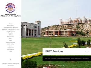 Kohat University of Science and Technology Screenshot