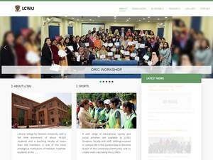 Lahore College for Women University's Website Screenshot