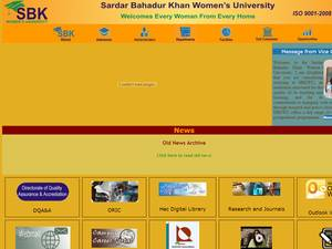 Sardar Bahadur Khan Women's University Screenshot