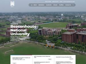 Beaconhouse National University's Website Screenshot