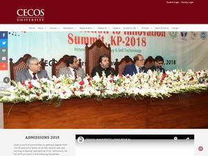 CECOS University's Website Screenshot