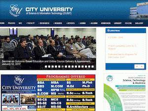 City University of Science and Information Technology Screenshot