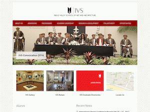 Indus Valley School of Art and Architecture's Website Screenshot
