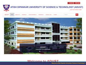 Atish Dipankar University of Science and Technology's Website Screenshot