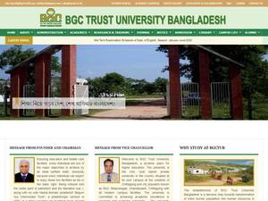 Begum Gulchemonara Trust University's Website Screenshot
