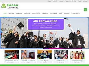 Green University of Bangladesh's Website Screenshot