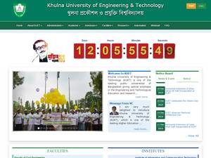 Khulna University of Engineering and Technology's Website Screenshot