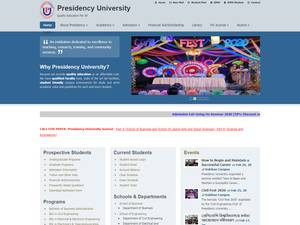 Presidency University, Bangladesh's Website Screenshot