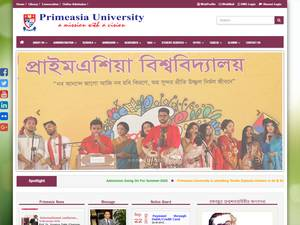 Primeasia University's Website Screenshot