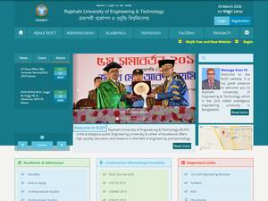 Rajshahi University of Engineering and Technology's Website Screenshot