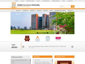 United International University's Website Screenshot