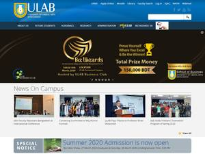 University of Liberal Arts Bangladesh's Website Screenshot