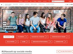 Universiteit Hasselt's Website Screenshot
