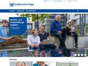 FernUniversität in Hagen's Website Screenshot