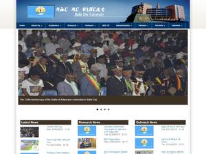 Bahir Dar University's Website Screenshot