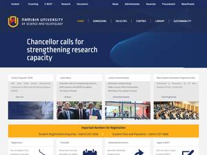 Namibia University of Science and Technology's Website Screenshot