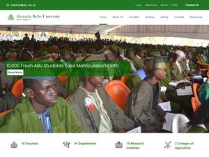 Ahmadu Bello University's Website Screenshot