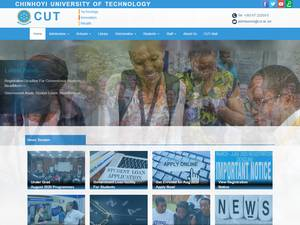 Chinhoyi University of Technology's Website Screenshot