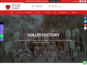 Solusi University's Website Screenshot