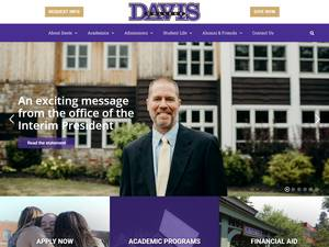 Davis College's Website Screenshot