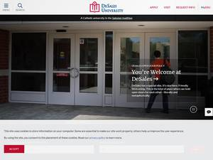 DeSales University's Website Screenshot
