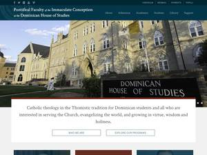 Pontifical Faculty of the Immaculate Conception's Website Screenshot
