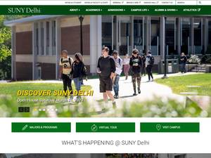 SUNY Delhi's Website Screenshot