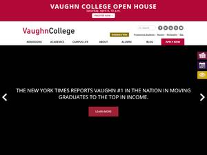 Vaughn College of Aeronautics and Technology's Website Screenshot