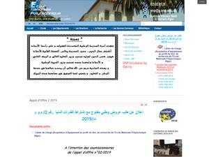École Nationale Polytechnique's Website Screenshot