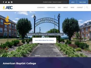 American Baptist College's Website Screenshot