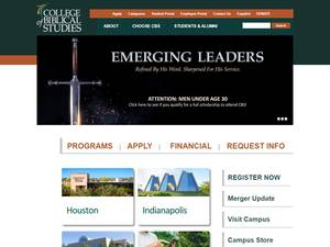College of Biblical Studies's Website Screenshot