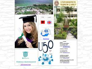 Eqrem Çabej University of Gjirokastra Screenshot