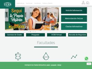 Universidad de Ciencias Empresariales y Sociales's Website Screenshot