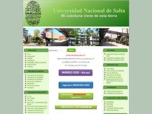 Universidad Nacional de Salta's Website Screenshot