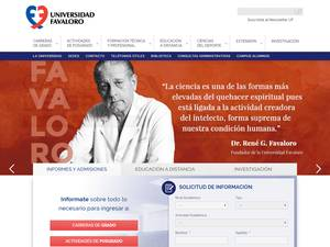Universidad Favaloro's Website Screenshot