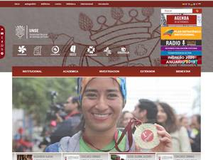 Universidad Nacional de Santiago del Estero's Website Screenshot