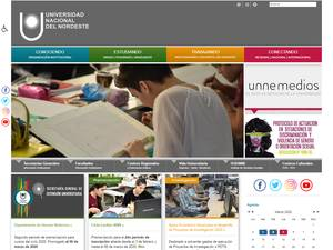 Universidad Nacional del Nordeste's Website Screenshot