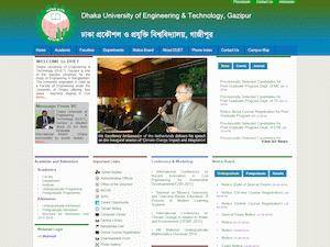 Dhaka University of Engineering and Technology's Website Screenshot