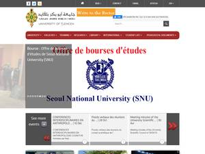 Université Abou Bekr Belkaid Tlemcen Screenshot