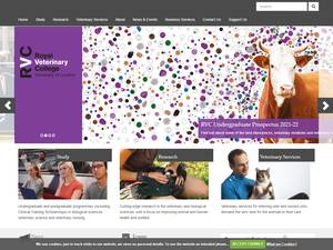 Royal Veterinary College University of London's Website Screenshot