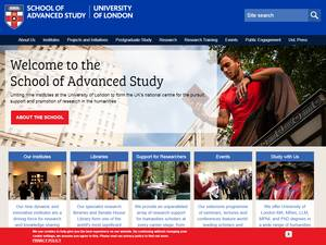 School of Advanced Study, University of London's Website Screenshot