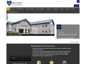 Abia State University's Website Screenshot