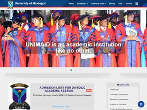 University of Maiduguri's Website Screenshot