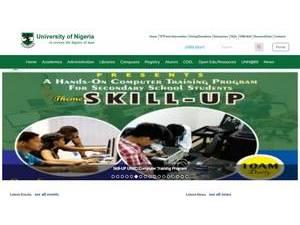 University of Nigeria's Website Screenshot