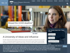Queen Margaret University's Website Screenshot