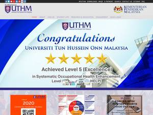 Universiti Tun Hussein Onn Malaysia's Website Screenshot